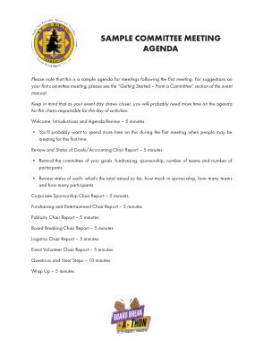 Free Download PDF Books, Sample Committee Meeting Agenda