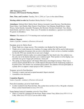 Free Download PDF Books, Sample Minutes Meeting Minutes