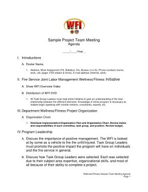 Free Download PDF Books, Sample Project Team Meeting Agenda