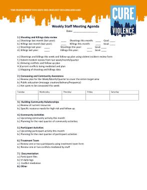 Free Download PDF Books, Weekly Staff Meeting Agenda