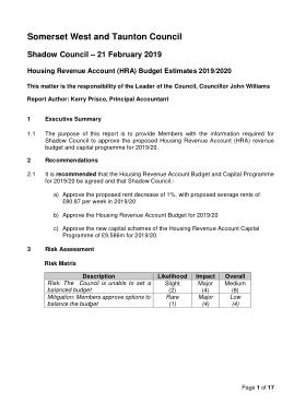 Free Download PDF Books, Housing Revenue Account Budget Estimate Template