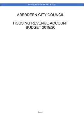 Free Download PDF Books, Housing Revenue Account Budget Template