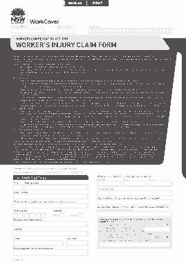 Free Download PDF Books, Employee Injury Claim Form Template