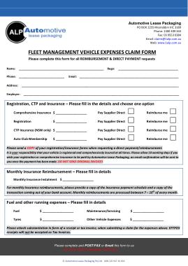 Free Download PDF Books, Fleet Expense Claim Form Template