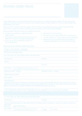 Free Download PDF Books, Dental Billing Claim Form Template
