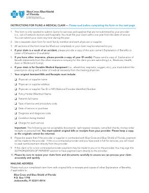 Free Download PDF Books, Filing Medical Claim Form Template