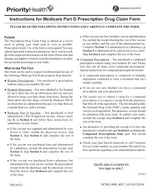 Medicare Drug Claim Form Template