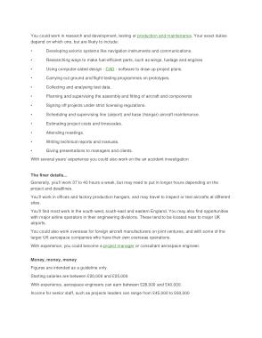 Free Download PDF Books, Aerospace Engineer Job Description and Salary Template