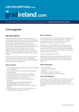 Free Download PDF Books, Civil Engineer Job Description Pdf Template
