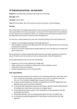 Free Download PDF Books, Engineer Technician Job Description Template