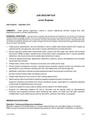 Free Download PDF Books, Junior Computer Engineer Job Description Template