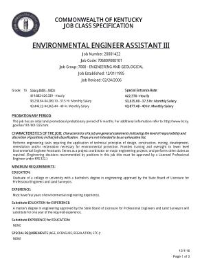 Free Download PDF Books, Environmental Assistant Engineer Job Description Template