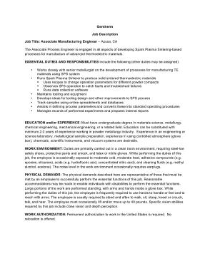 Free Download PDF Books, Associate Manufacturing Engineer Job Description Template