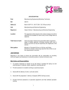 Free Download PDF Books, Manufacturing Engineer Technician Job Description Template