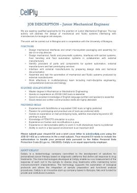 Free Download PDF Books, Junior Mechanical Engineer Job Description Template