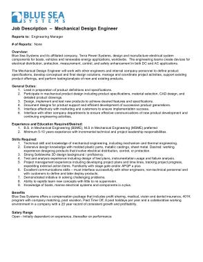 Free Download PDF Books, Mechanical Design Engineer Job Description Template