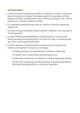 Free Download PDF Books, Chief Petroleum Engineer Job Description Template