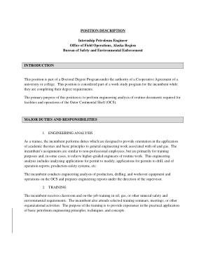 Free Download PDF Books, Petroleum Engineer Intern Job Description Template