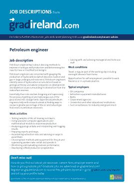 Free Download PDF Books, Petroleum Engineer Job Description Example Template