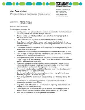 Free Download PDF Books, Project Sales Engineer Job Description Template