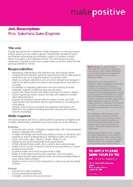 Free Download PDF Books, Salesforce Sales Engineer Job Description Template