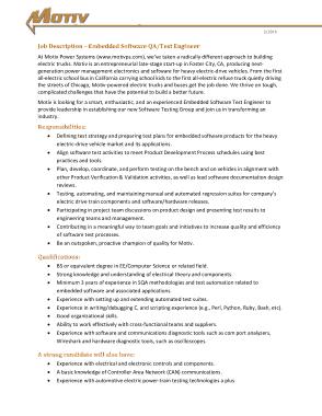 Free Download PDF Books, Embedded Software Test Engineer Job Description Template