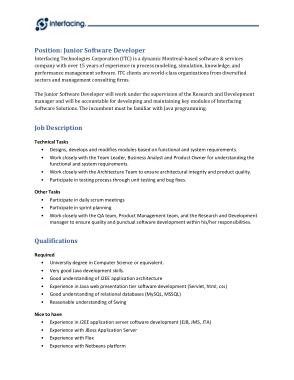 Free Download PDF Books, Junior Software Engineer Job Description Template