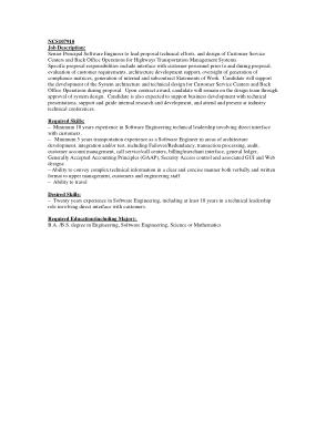 Free Download PDF Books, Principal Software Engineer Job Description Template