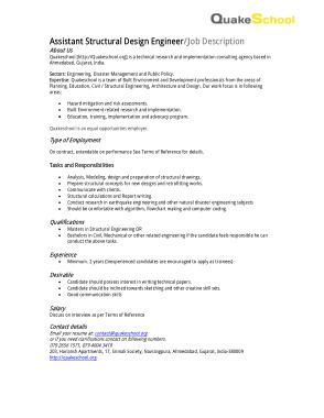Free Download PDF Books, Assistant Structural Design Engineer Job Description Template
