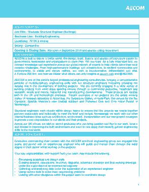 Graduate Structural Engineer Job Description Template