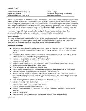Free Download PDF Books, Senior Structural Engineer Job Description Template