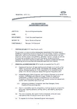 Free Download PDF Books, Steel Structural Engineer Inspector Job Description Template