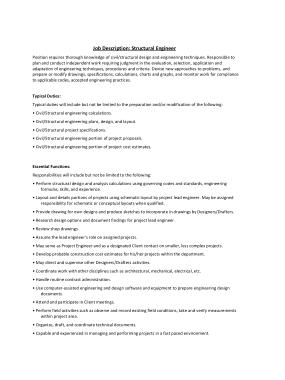 Free Download PDF Books, Structural Engineer Job Description Duties Template