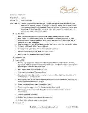 Free Download PDF Books, Logistics Clerk Job Description Example Template
