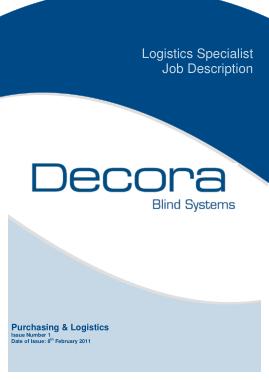 Free Download PDF Books, Logistics Specialist Job Description Template