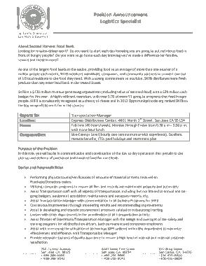 Free Download PDF Books, Sample Logistics Specialist Job Description Template