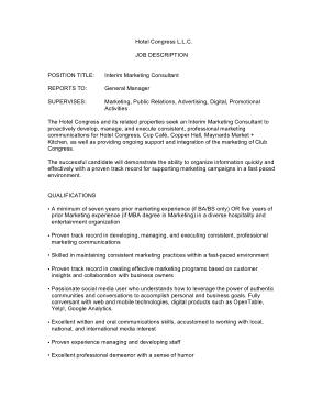 Free Download PDF Books, Interim Marketing Consultant Job Description Template