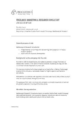 Free Download PDF Books, Marketing Consultant Job Description Example Template