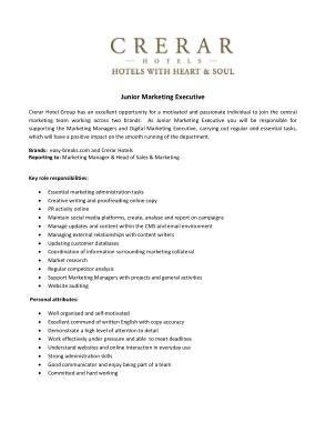 Free Download PDF Books, Junior Marketing Executive Job Description Template