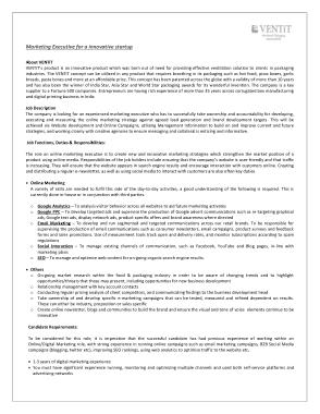 Free Download PDF Books, Online Marketing Executive Job Description Template