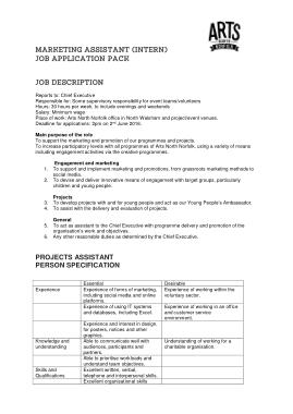 Free Download PDF Books, Marketing Assistant Intern Job Description Template