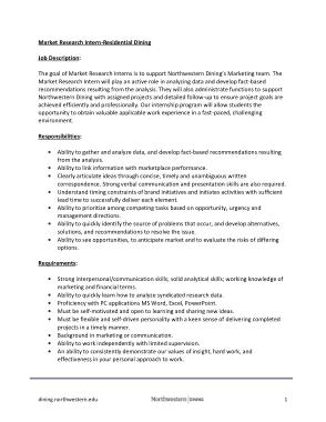 Free Download PDF Books, Marketing Research Intern Job Description Template