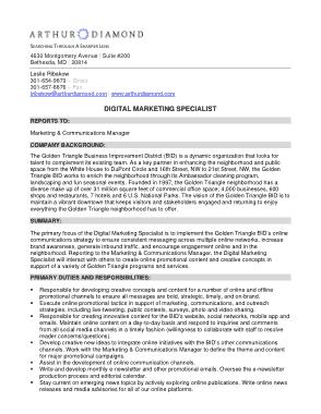 Free Download PDF Books, Digital Marketing Specialists Job Description Template