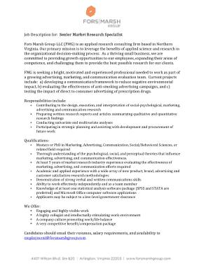 Free Download PDF Books, Senior Marketing Research Specialist Job Description Template