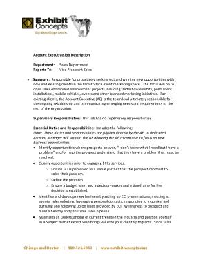 Free Download PDF Books, ECI Account Executive Job Description Template