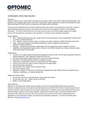 Free Download PDF Books, Senior SalesExecutive Job Description Template