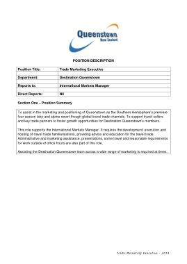 Free Download PDF Books, Trade Marketing Executive Job Description Template