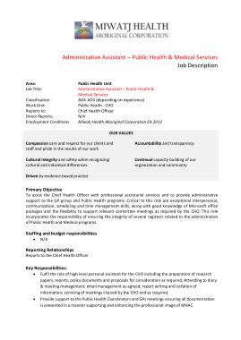 Free Download PDF Books, Medical Service Administrative Assistant Job Description