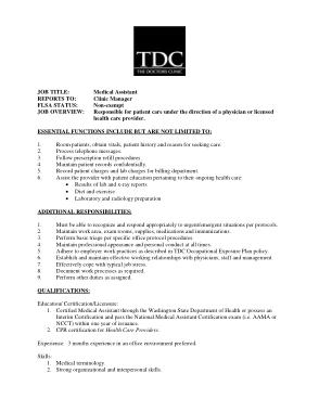 Free Download PDF Books, Clinical Medical Assistant Job Description