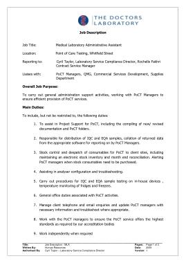 Free Download PDF Books, Medical Administrative Assistant Job Description